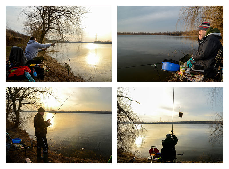 pescuit la feeder cu prietenii