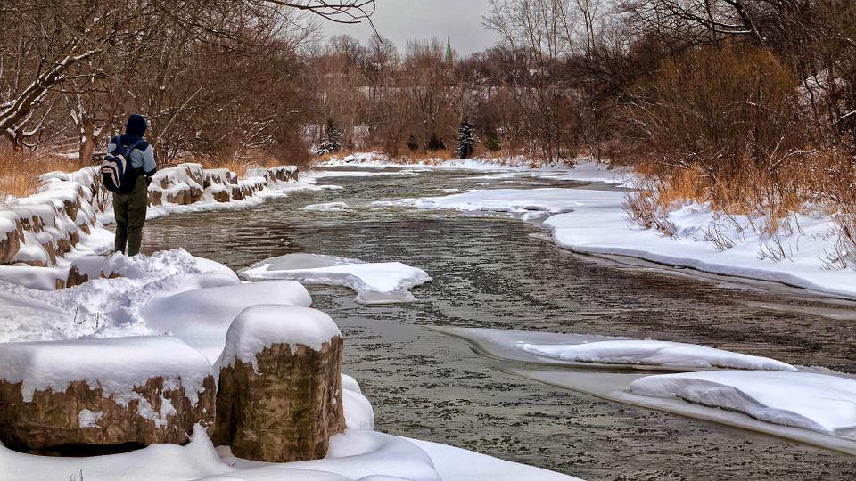 localizare pesti pe apa rece -pe rau iarna